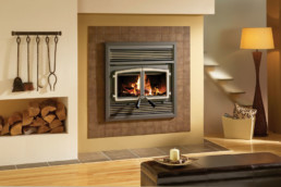 Stratford Wood Fireplace black