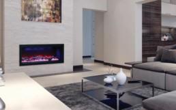 Amantii Symmetry foyer encastrable 50``roches et bûches