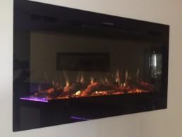 """Toso foyer électrique linéaire 50"""" noir"""