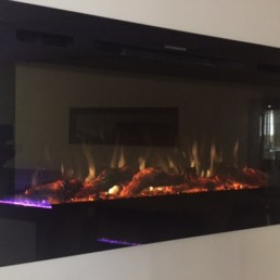 Toso black electric fireplace linear 50